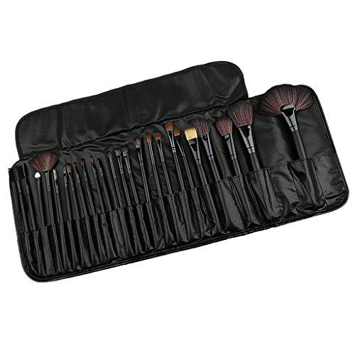 Set 24pcs Pro Pinceaux de Maquillage Outil Cosmétique Brosses avec Pochette