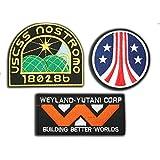 Brand NEW Alien/Aliens/aliens3Weyland Nostromo marina parche juego de 3