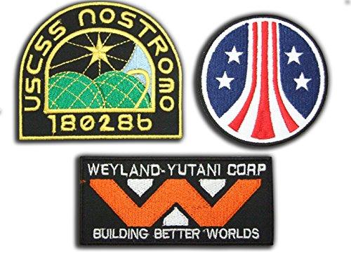 Kostüm Wars Star Lizenzierten - Alien/Aliens/Aliens3 Weyland Nostromo Marine 3-Sticker-Set