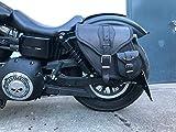 Dynamite Black Satteltasche Harley Davidson Dyna Glide Street Bob Modell 1996-2017 Ledertasche Orletanos Sportster Seitentasche Werkzeugtasche Gepäckkoffer Seitenkoffer Saddle Bag HD Linke Seite Left