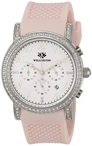 Wellington Amberley WN505-118 - Reloj analógico de cuarzo para mujer con correa de silicona, color verde