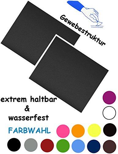 alles-meine.de GmbH 2 Stück _ Reparatur Sticker - selbstklebend - Camping Nylon -  schwarz  - wasserfest & wasserdicht - Aufkleber / Kleber - fest & stabil & wetterfest - - FL.. -