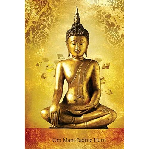 Om Mani Padme Hum: 150-page Journal With Buddha Image (6 x 9 Inches / Gold / Diary) by The Mindful Word (2015-01-28)