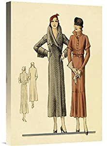 "Global Gallery GCS-379242-22-142 ""Vintage Fashion Fashions For Urban Ladies"" Gallery Wrap Giclee on Canvas Wall Art Print"