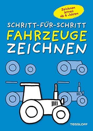 Fahrzeuge zeichnen Schritt-für-Schritt: Kleine Zeichenschule ab 6 Jahren (Malbücher und -blöcke) (Flugzeug-blöcke)