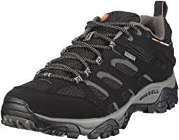 Merrell Moab Gore-Tex, Men's Lace-Up Low Rise Hiking Shoes - Black, 9.5 UK