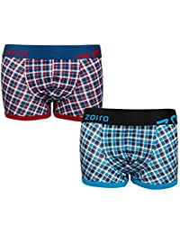 Zoiro Men's Cotton Trunk_Trento#0082_(Pack of 2)_Assorted Colors