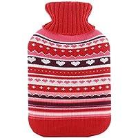 Wärmflaschen, Naturkautschuk und weicher Strickschutz aus Baumwolle, um warm und bequem zu bleiben (Farbe : C) preisvergleich bei billige-tabletten.eu