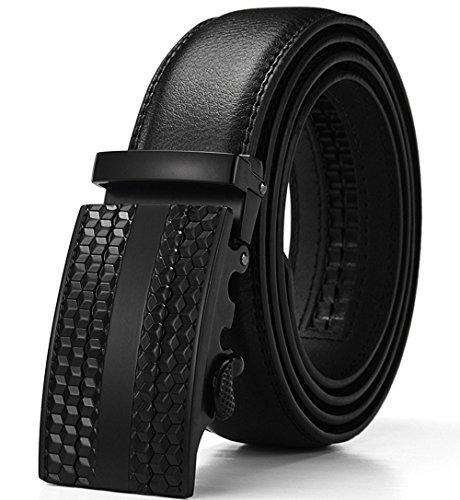 Preisvergleich Produktbild WETOPER Herren Gürtel Ratsche Automatik Gürtel für Männer 35mm Breit Ledergürtel (No:6,  Länge 125cm Geeignet für 37-43 taille)