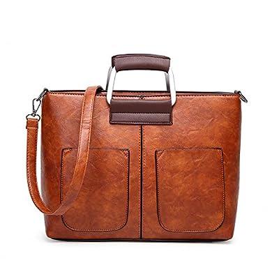 Les femmes en cuir PU Vintage Handbags Designer Casual Messenger Bag Sac à bandoulière de grande capacité