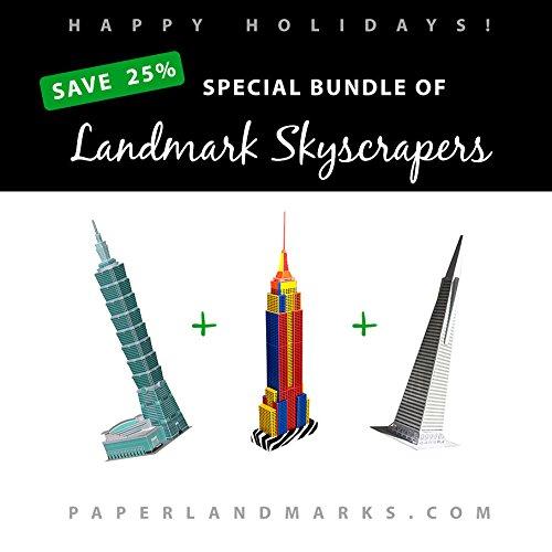 PaperLandmarks Set - 3 Grattacieli Simbolici - SCONTO 25%