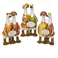 Full Set of 3 Double Trouble Chatty Friends Duck Sign Ornaments - Shabby Chic - Each Individually Boxed