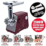 Best Sausage Stuffers - YUMUN 2800 Watt Electric Meat Grinder, Stainless Steel Review