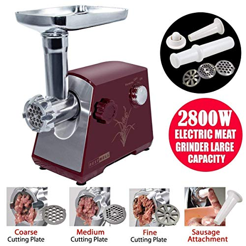 YUMUN 2800 Watt Electric Meat Grinder, Stainless Steel Meat Mincer Sausage Stuffer, Heavy Duty Food Processing Machine