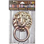 Canvas Corp 7 Gypsies Architextures Treasures Adhesive Embellishments-Lion Door Knocker 4""