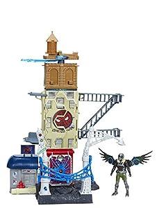 Marvel Spiderman - Web city, playset de 56 cm con figuras de acción de Spider-Man y El Buitre  de 15 cm cada una - Playset con 4 niveles de juego - (Hasbro B9692EU4)