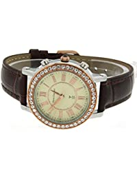 Pierre pantalones Bert it's_amaz-reloj analógico de cuarzo cuero RCWAB16A84806