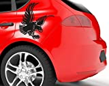 Autoaufkleber Adler uss164_a Car-Tattoos Auto Tuning Car Styling 40 x 40 silber