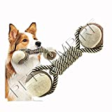 #9: Dog Chew Toy, Knots Rope for Small Dogs Teeth Cleaning Cotton Rope Dog Toy 1 Piece Color May Vary
