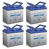 12V 35AH SLA Battery for Golden BuzzAround - 4 Pack