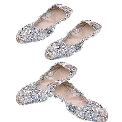 Homyl 2 paio scarpe morbide ballerine/balletto/scarpe da ginnastica l xl
