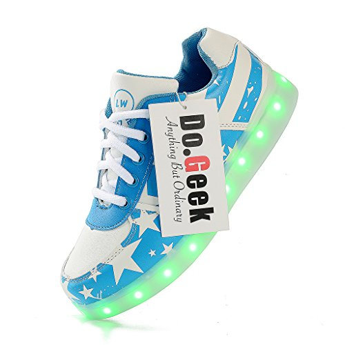 Trainers - Men Women Low Top LED Shoes - USB Charge 7 Colors Light Sneakers… (Womens Light Up Schuhe)