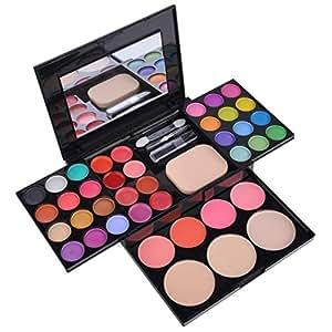 CRAVOG - 39 couleurs Maquillage Palette Pro trousse Cosmétique Ombres à Paupières Blush Rouge à Lèvre Fond de teint