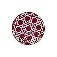 Porland Morocco Düz Tabak Desen5 Fuşya 20cm, Porselen