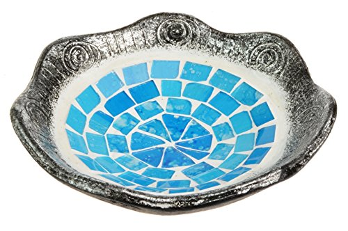 Piquaboo Mosaic Spectrum Candle Plate Key Coin Soap Dish (Silver Blue)