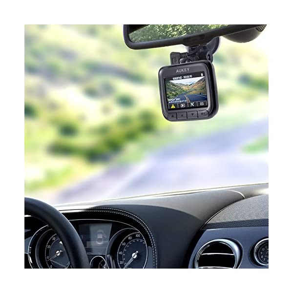 AUKEY Dash Cam Full HD 1080P Dash Camera for Cars with Supercapacitor and  6-Lane 170 Degrees Wide Angle Lens Car Camera with 2 inches LCD, G-Sensor,