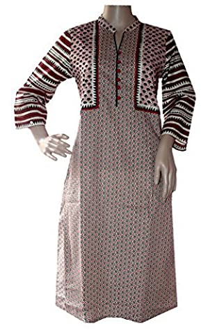 Arva Indian Cool Super Soft Summer Wear Light Weight Tunic Kurti Designer Women Ethnic Top