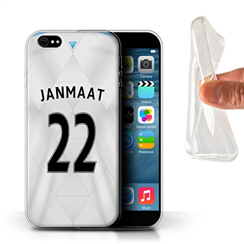 Offiziell Newcastle United FC Hülle / Gel TPU Case für Apple iPhone 6S+/Plus / Pack 29pcs Muster / NUFC Trikot Away 15/16 Kollektion Janmaat