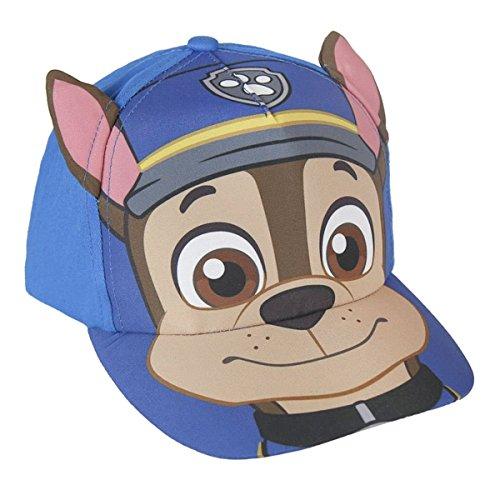 paw-patrol-cappello-berretto-premium-con-visiera-ed-orecchie-prodotto-originale-220000224x-blu-chase