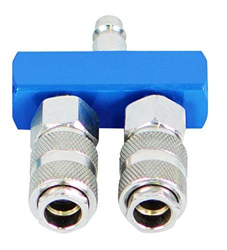 Scheppach Druckluftschnellkupplungen-Set, 2-Wege, 1 Stück, blau/silber, 7906100722 (Druckluft Verteiler)