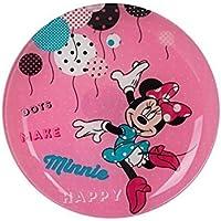 Luminarc Platos de Postre Vidrio y cerámica Disney Minnie Mickey y Amigos 20 ...