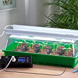 Serre d'intérieur avec deux lampes horticoles, matelas chauffant et thermostat - Mini serre chauffante pour la germination - Jardin d'intérieur - ROMBERG Maximus Complete - 57 x 38 x 18 cm