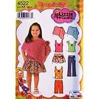 Simplicity 4522 Lizzy McGuire Toddler / Girl Skirt, panties, pants,