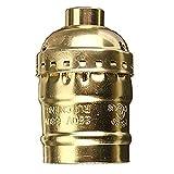 SRY-LED-Lampen 54x31mm Vintage Aluminium Licht Lampe Basis Halter Pendelleuchte Halter mit E27 Schraube ( Color : Gold )