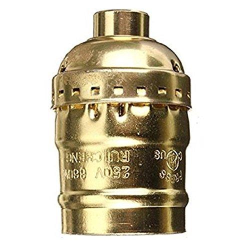 SCSY-Glühbirne 54x31mm Vintage Aluminium Licht Lampe Basis Halter Pendelleuchte Halter mit E27 Schraube (Color : Gold)