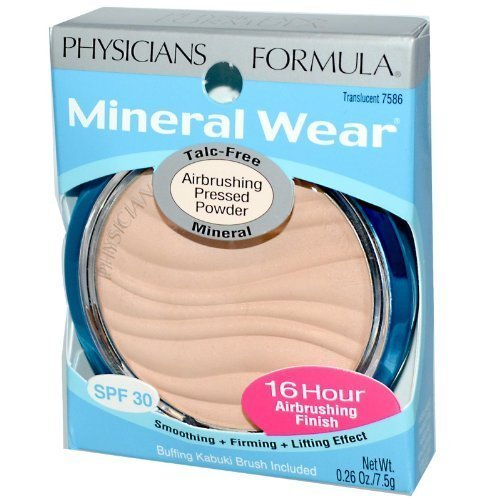 physician-formula-pressed-powder-airbrushing-translucent-7586-026-oz-75-g-pack-of-2-by-physicians