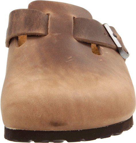 Birkenstock Womens Boston Leather Sandals Tobacco Brown