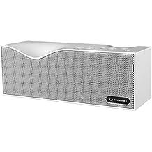 Soundance® Bluetooth-Lautsprecher - Mit FM-Radio, integriertem Freisprech-Mikrofon, LED-Anzeige, Musikwiedergabe direkt von Micro SD/TF Karte und USB-Stick, 3,5 mm Audio-Eingang (Line-In) - Modell B1 (Weiß)