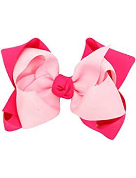 Zhhlaixing Pretty Boutique Kids Girls 2 Colours Sweet Large Bows Hair Clip HC009