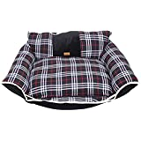 Douge Couture Handed Dog Black Sofa Bed (Large)