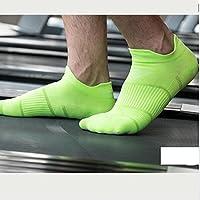 WYM Calcetines Calcetines Deportivos Profesionales Running para Hombres Y Mujeres Algodón Desodorante Calcetines De Primavera Y Verano Calcetines Barco Marea Calcetines Boca Baja,Green