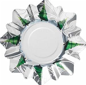 8 piatti dolce natalizi a forma di stella argento TREE DECORATION 21 cm