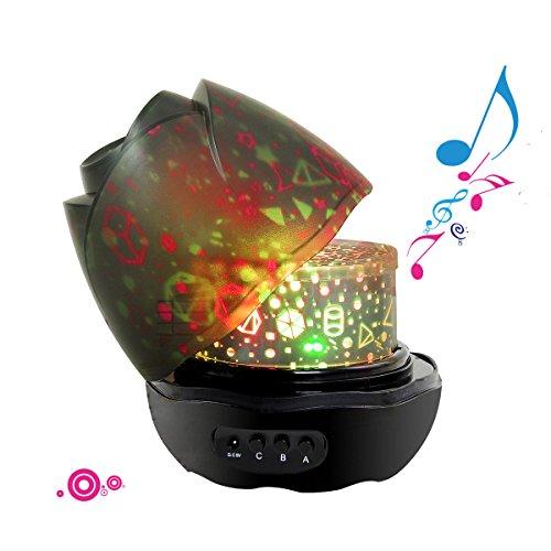 Sternenklarer Himmel Slow Sound Projektor Lampe Grad Romantische (Schwarz)