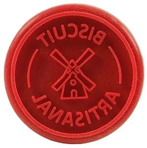 Yoko Design 1184 Tampon à Biscuits/Emporte-Pièce Bois/Silicone Rouge 9,5 cm