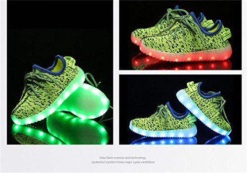 Laufschuhe Kinder Eu Led Blinken Kokosnuss Usb Farbe Für Grüne Unisex Outdoor Sneakers 25 Laden Mode jayce 37 Neue jojo ZxIZP6