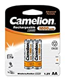 Camelion 17015206 Akku (NiMH, R6, Mignon, AA, 1500 mAh, 2er-Pack)